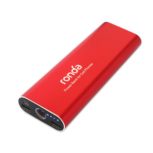 15 000mAh Power Bank with Dual-USB Port (Lightning Adapter included)