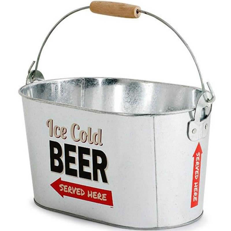 30 off on balvi ice cold beer metal bucket with opener. Black Bedroom Furniture Sets. Home Design Ideas