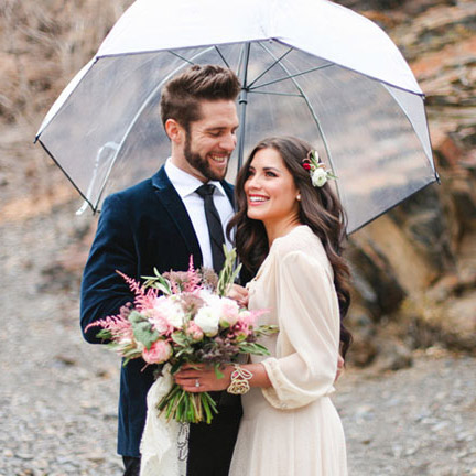 Clear Hooked Umbrellas